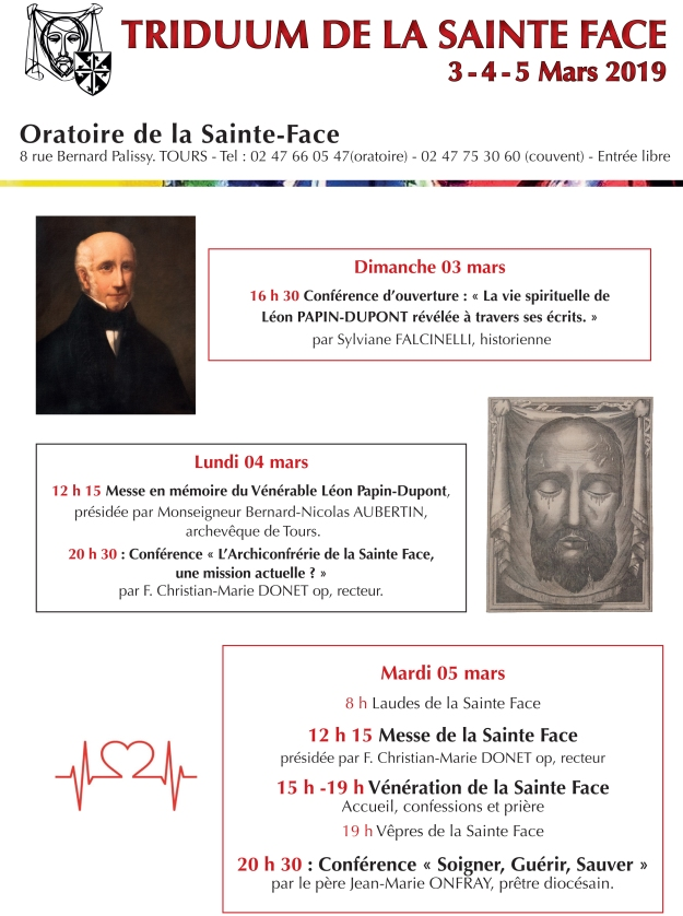Affiche A4 Triduum Sainte Face Tours 2019.indd